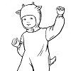Новогодний костюм козленка для мальчика своими руками
