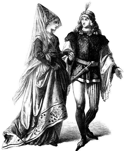 Бургундские придворные костюмы