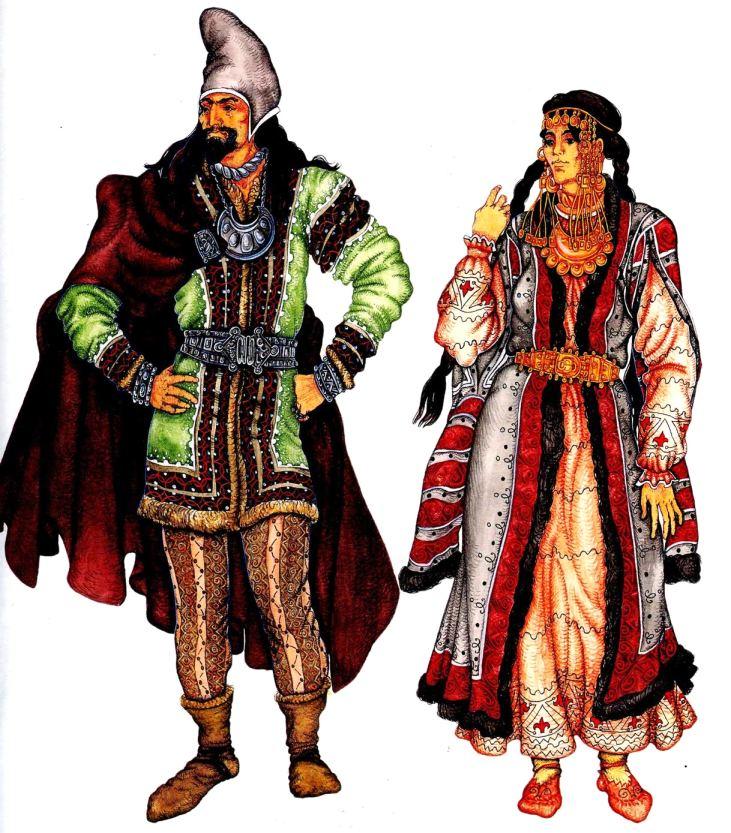 мужской и женский костюм скифов