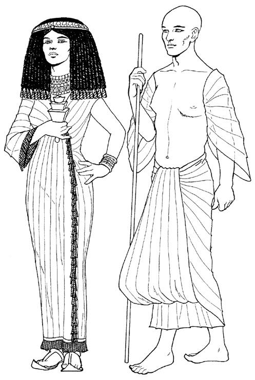Рисунки древнюю одежду 5 класс