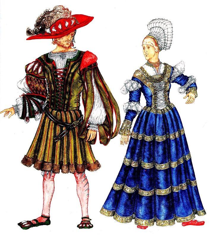 efaaf1730f3f Костюм Германии эпохи Возрождения (15-16 века)