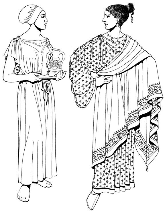 костюм древней греции картинки