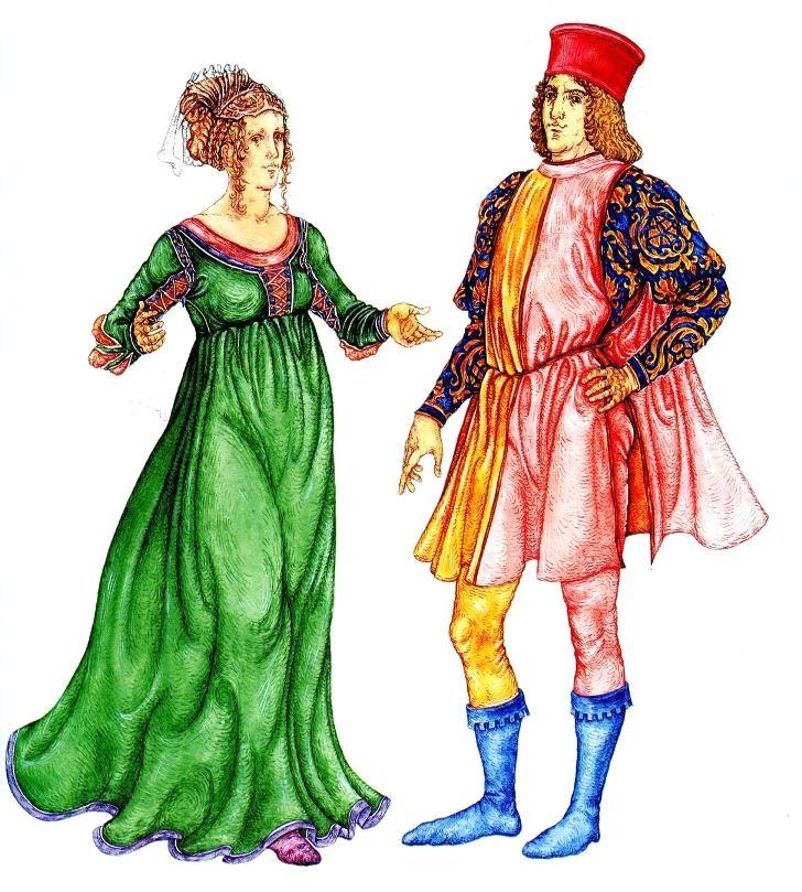 3952766ac684 Костюм Италии эпохи Возрождения (14-16 века)