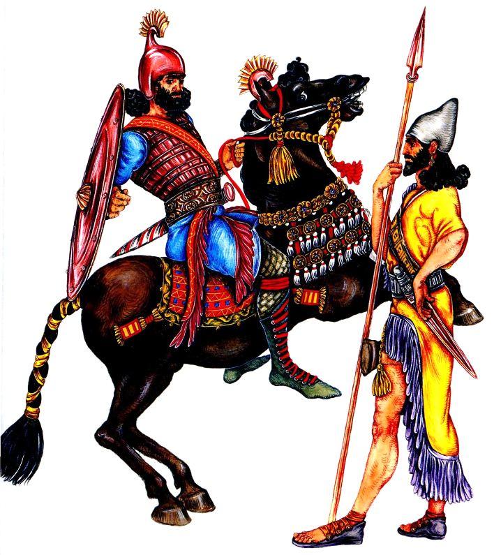 Костюмы ассирийских воинов