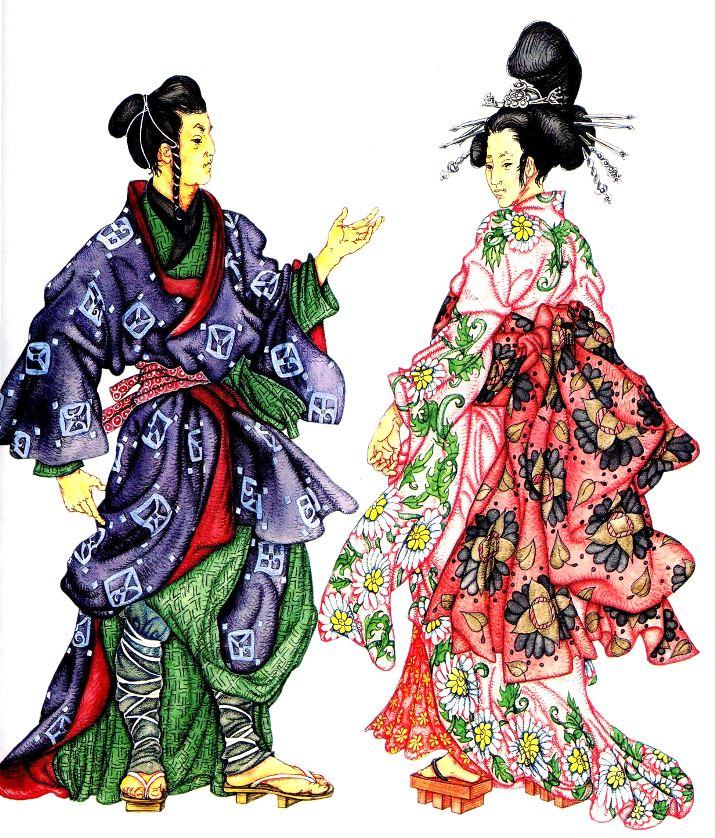 e263e85b175 мужская и женская японская национальная одежда