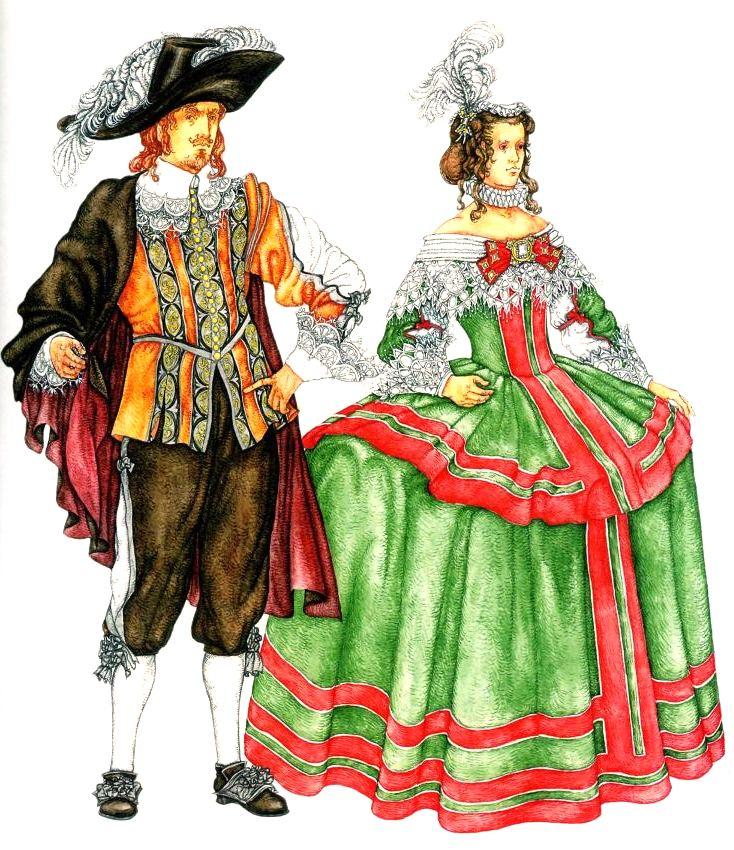 мода 16 17 века в европе презентация
