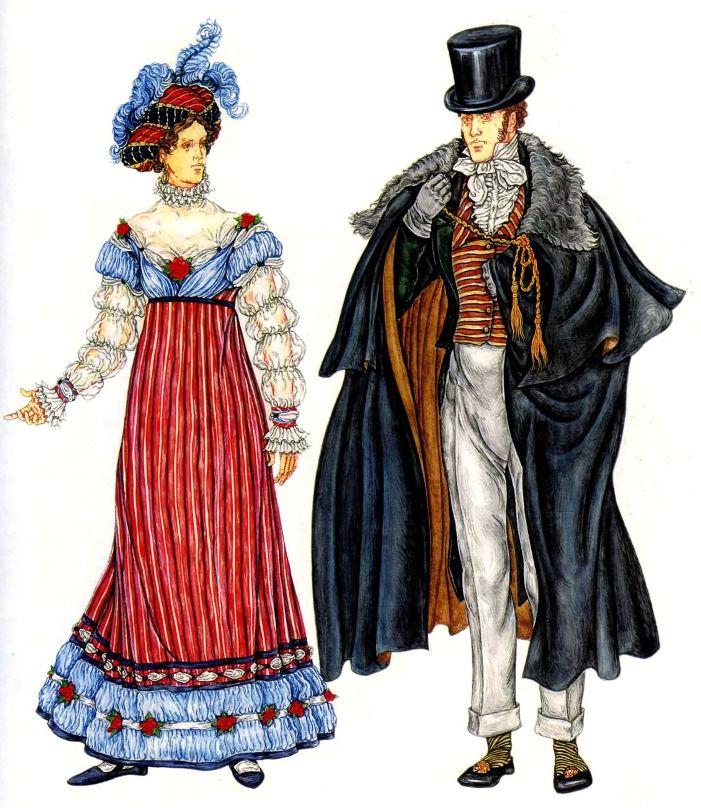 Vestir para las visitas y turbante con plumas.  traje de invierno con un gavelok Cabo