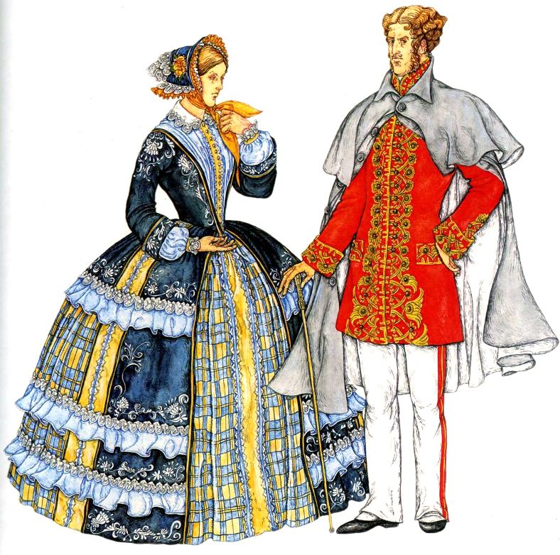 164756871611 Европейская мода второй половины 19 века (Второе Рококо)