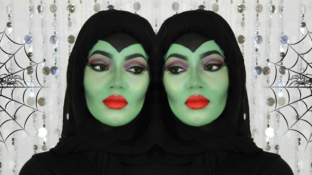 witch halloween make up