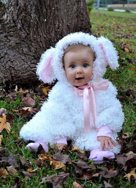 Костюм овечки для девочки своими руками